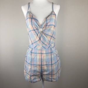Urban Outfitters Kimchi Blue Plaid Romper Size 4